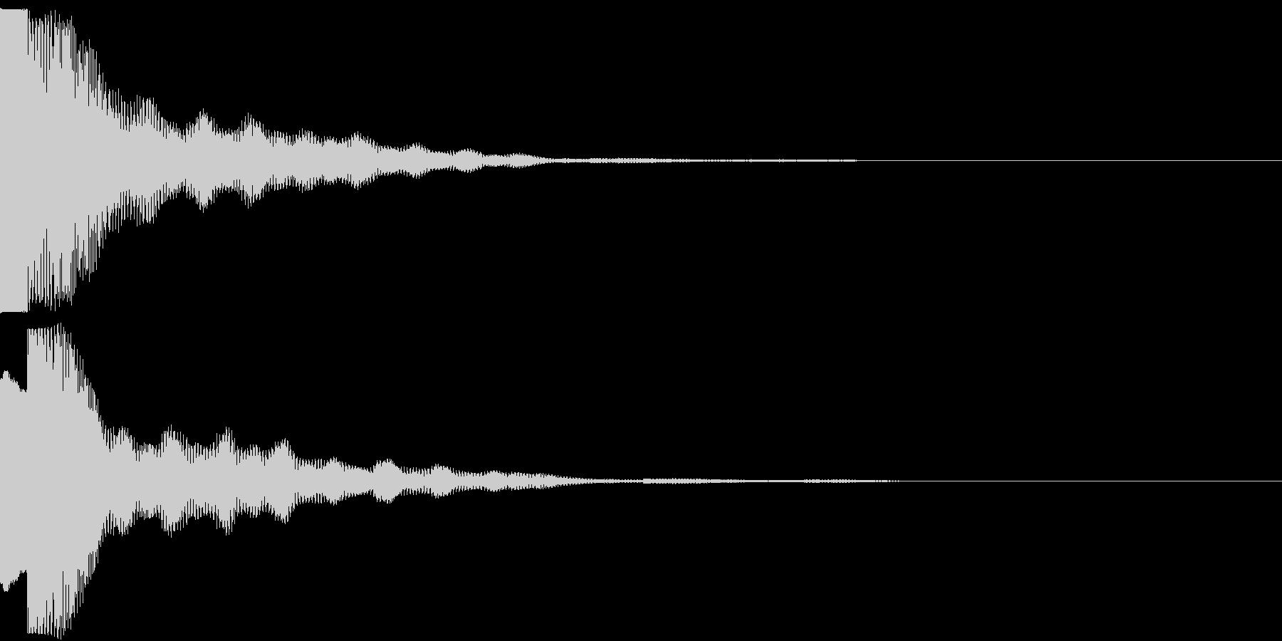 クリック キラリン 明るい 決定 10の未再生の波形