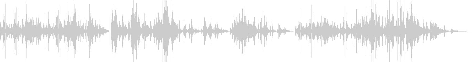 優しいピアノソロの未再生の波形