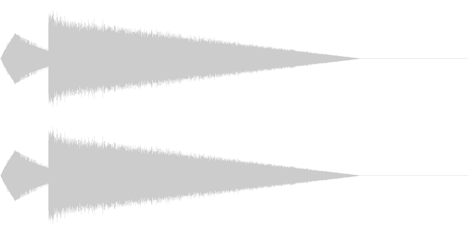 レトロゲーム風魔法・水系2の未再生の波形