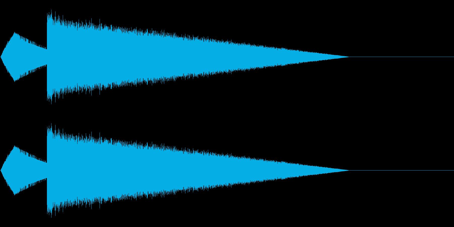 レトロゲーム風魔法・水系2の再生済みの波形