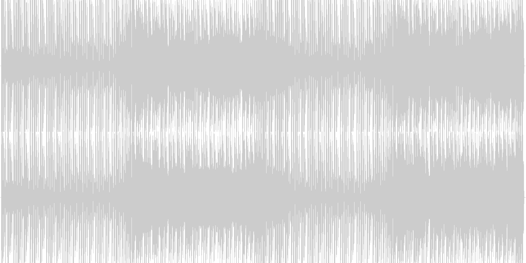 SF的でデジタル感のあるテクノトランスの未再生の波形