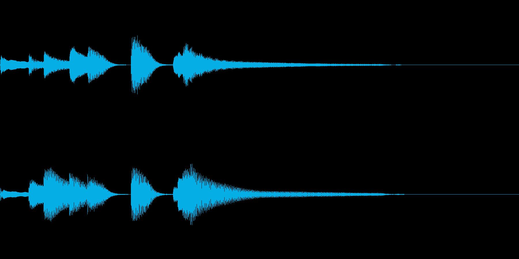 やさしいピアノ・サウンドロゴ6の再生済みの波形