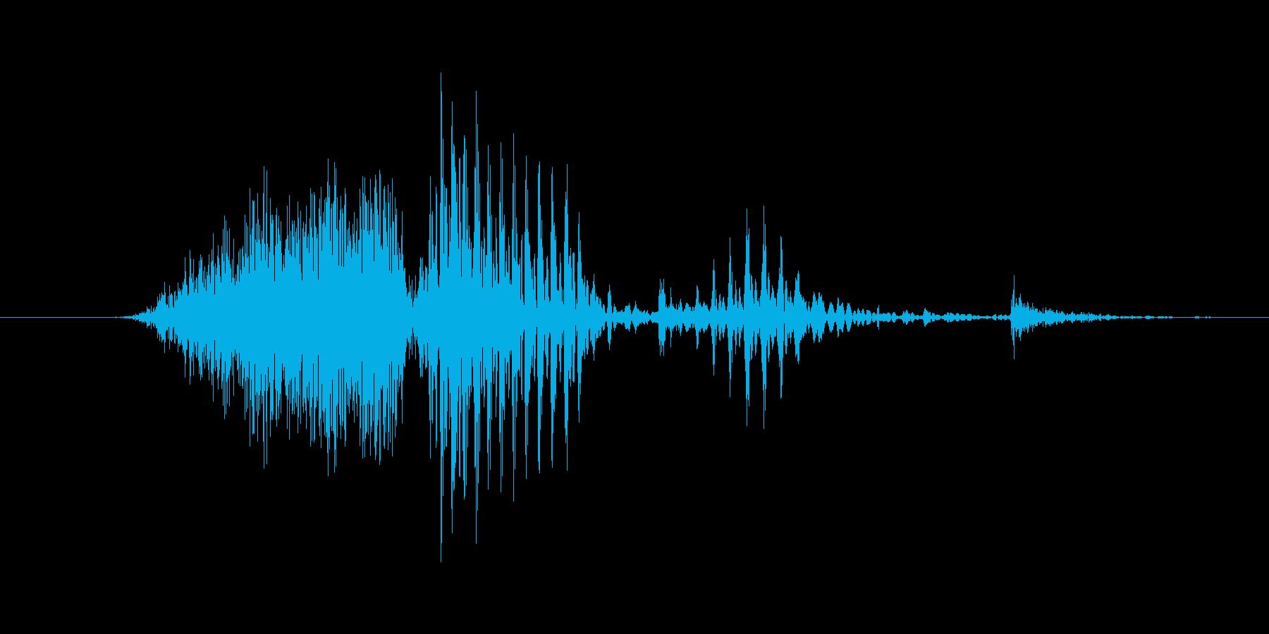 「2nd/second」英語の再生済みの波形