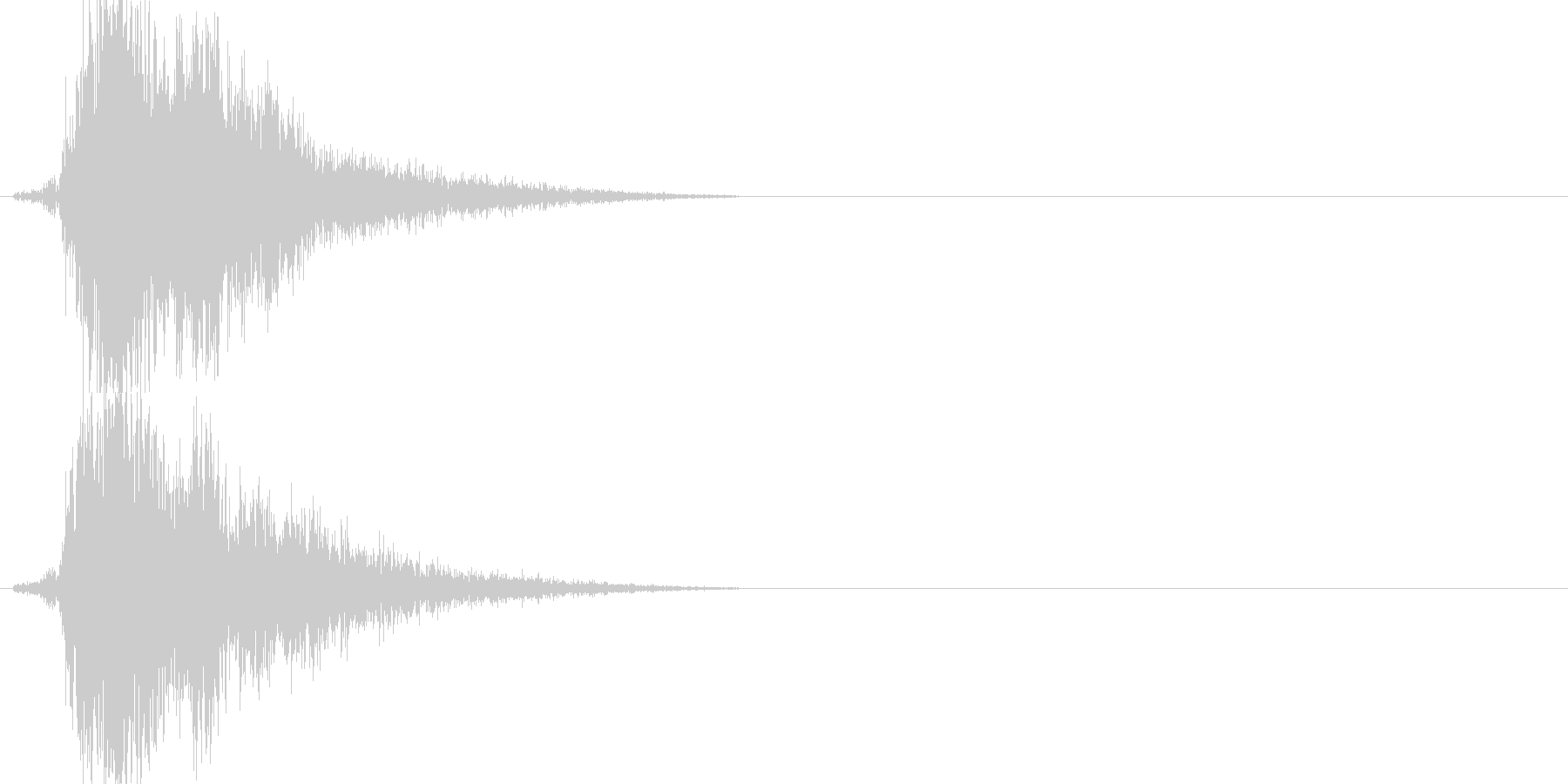 刀の素振り(ピュッと鋭い音)の未再生の波形
