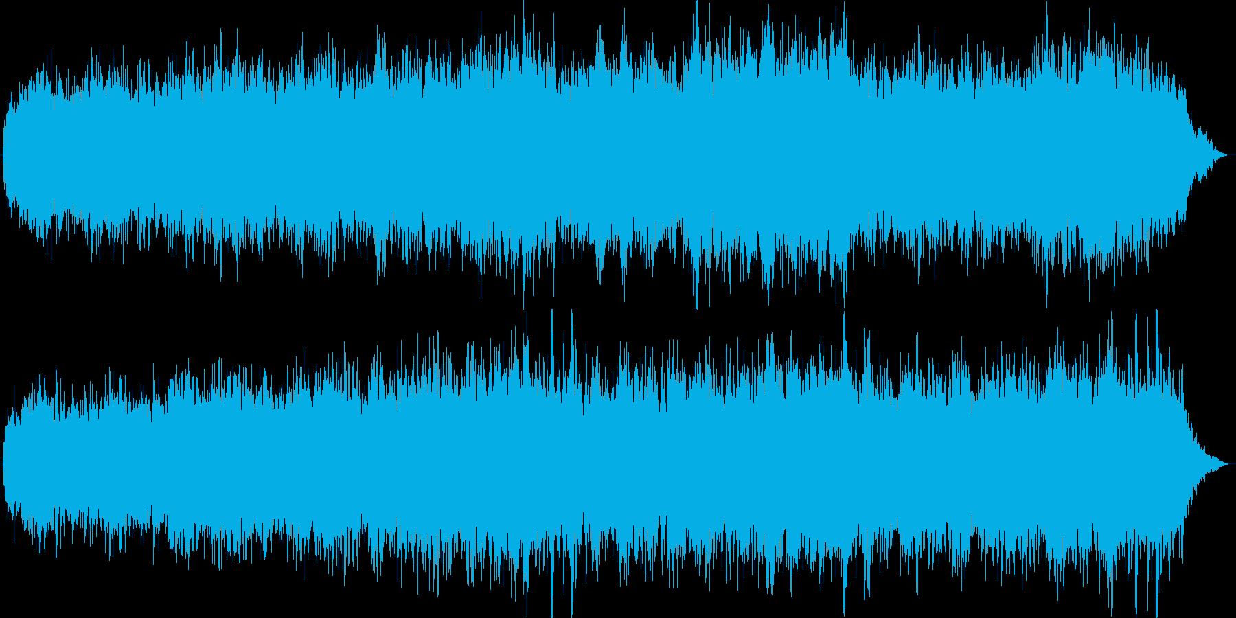 幻想的で透明感のあるアンビエントの再生済みの波形