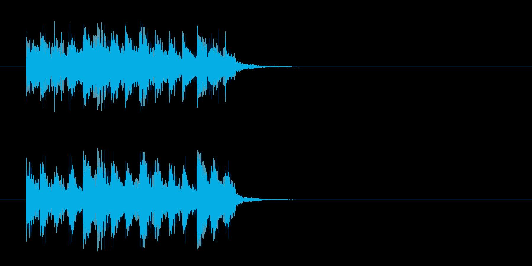 場面転換SE風コミカルなジングルの再生済みの波形