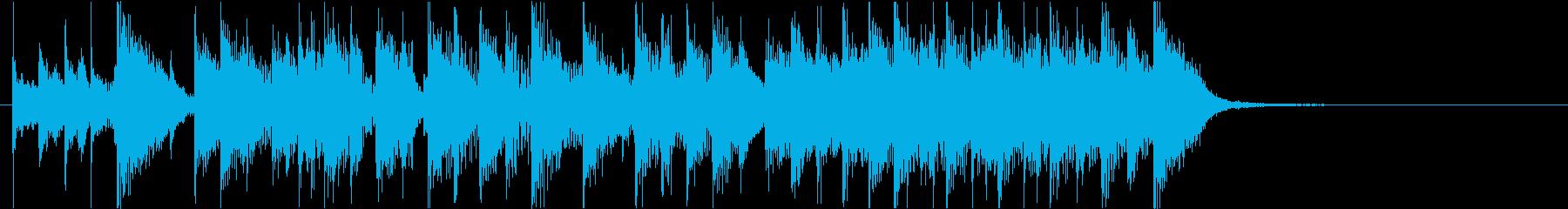 昭和テイストの軽快でカワイイサウンドロゴの再生済みの波形