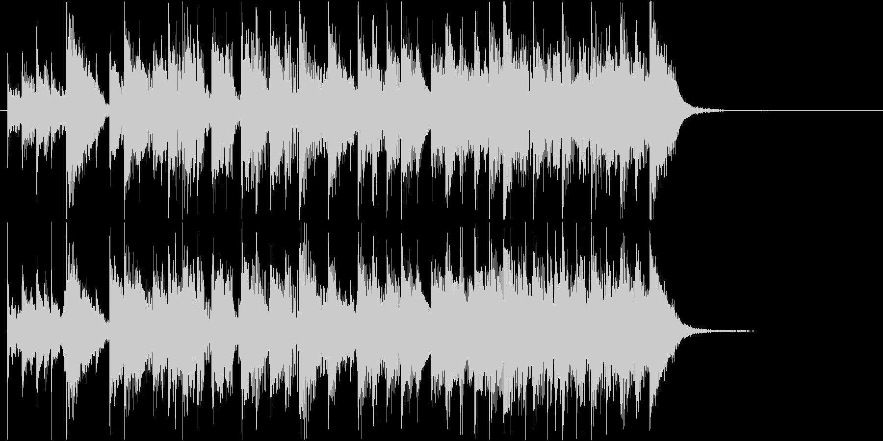 昭和テイストの軽快でカワイイサウンドロゴの未再生の波形