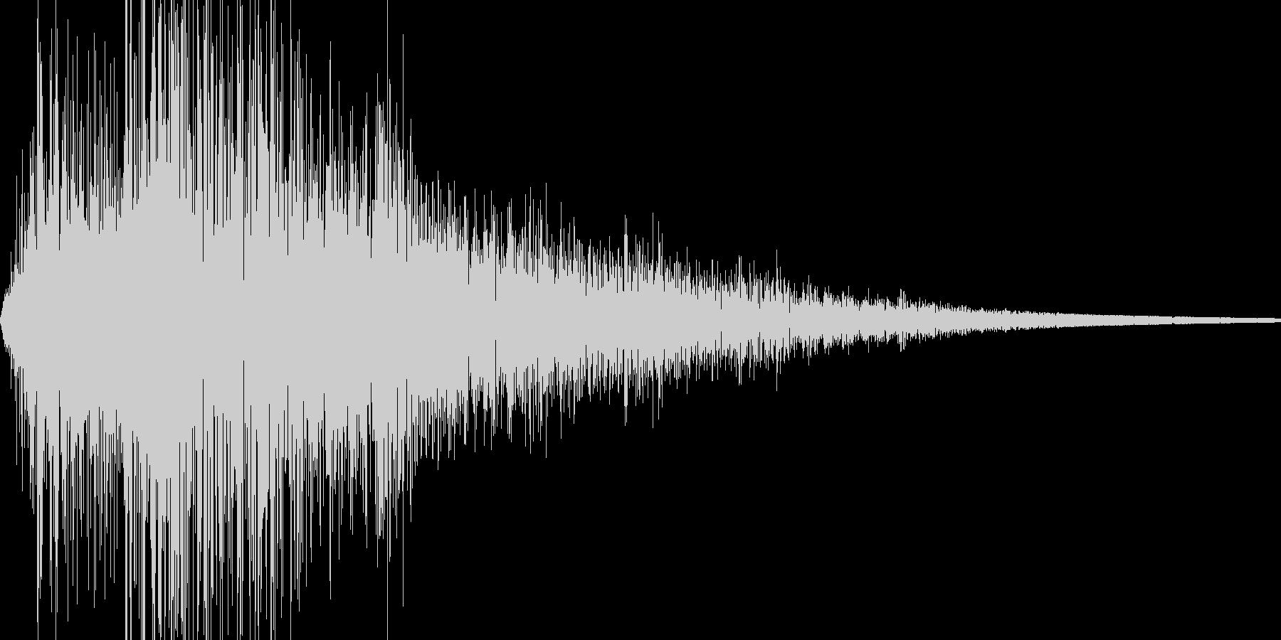 ザッの未再生の波形