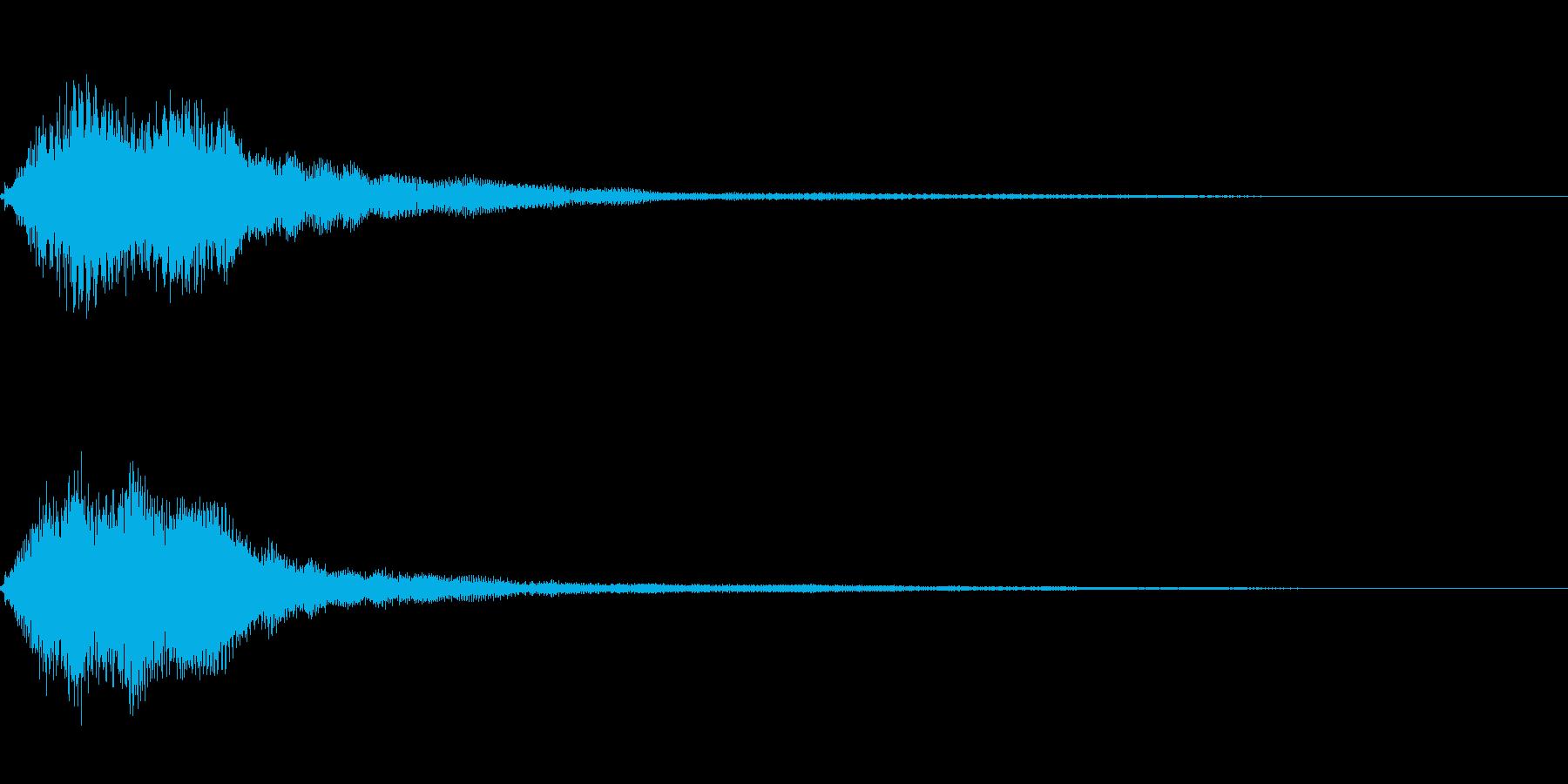 決定スタートシステム音 爽やかフレーズの再生済みの波形