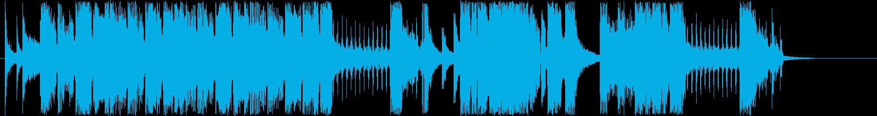 はじける印象シンセサイザーなどの音短めの再生済みの波形
