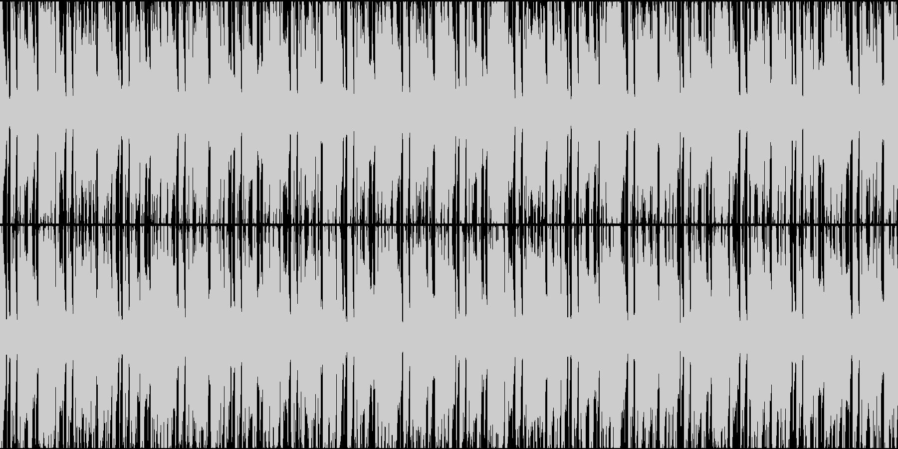 問題が発覚したときに流れてそうなループ曲の未再生の波形