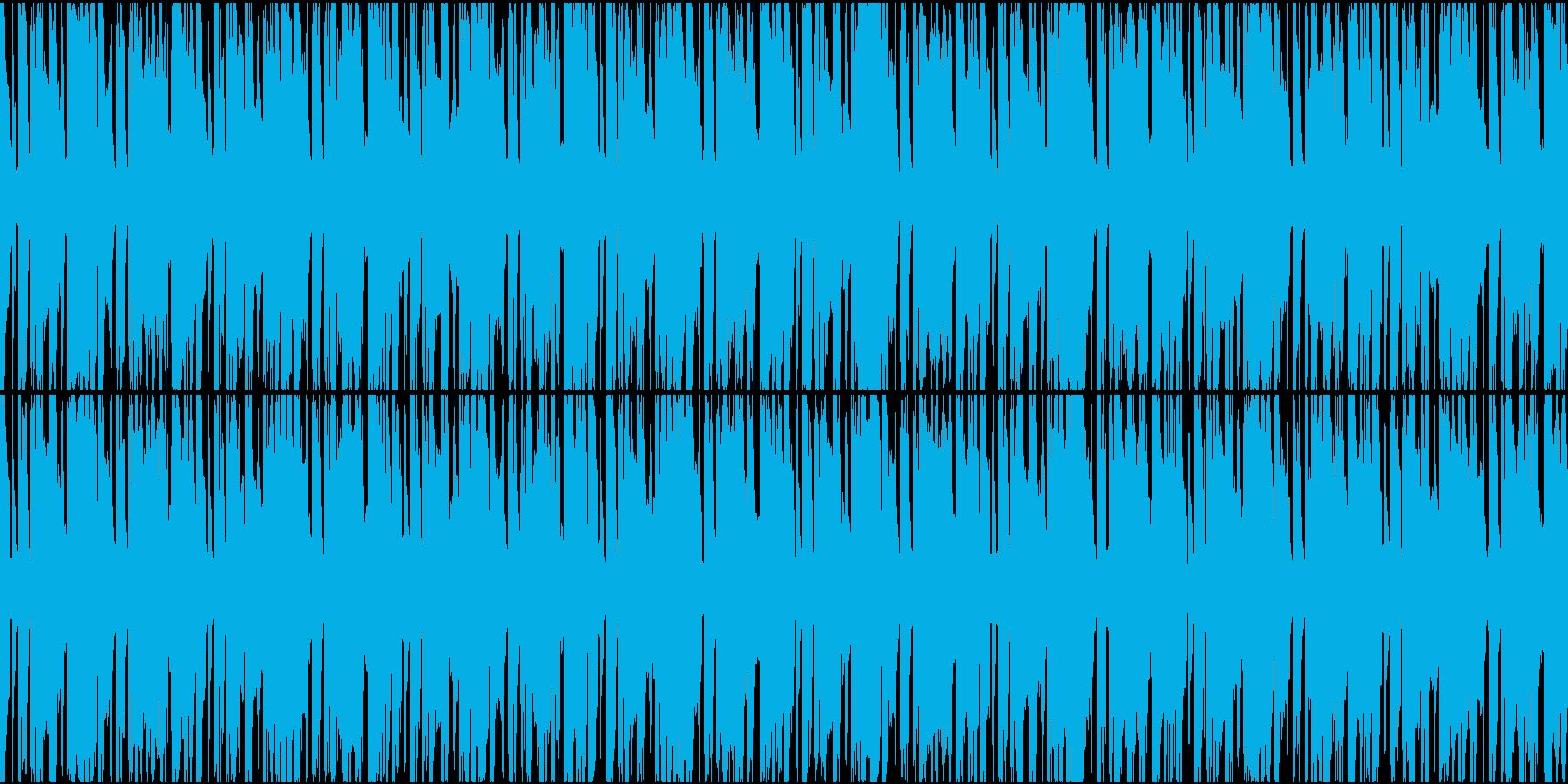 問題が発覚したときに流れてそうなループ曲の再生済みの波形