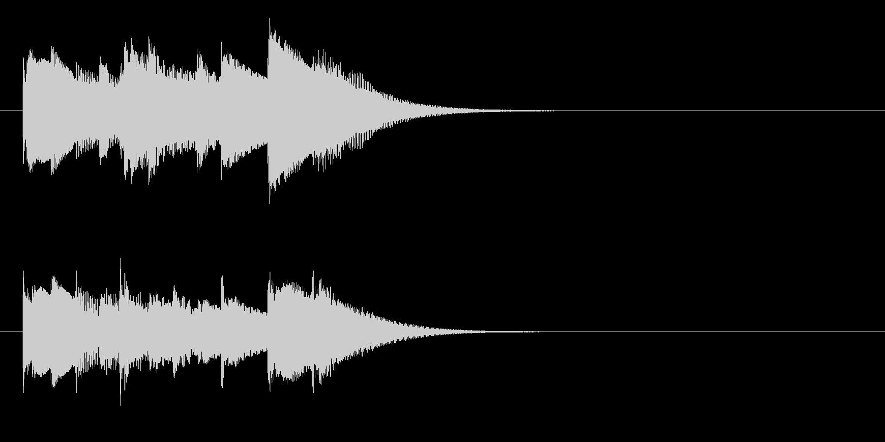 チェレスタの優しいジングルの未再生の波形