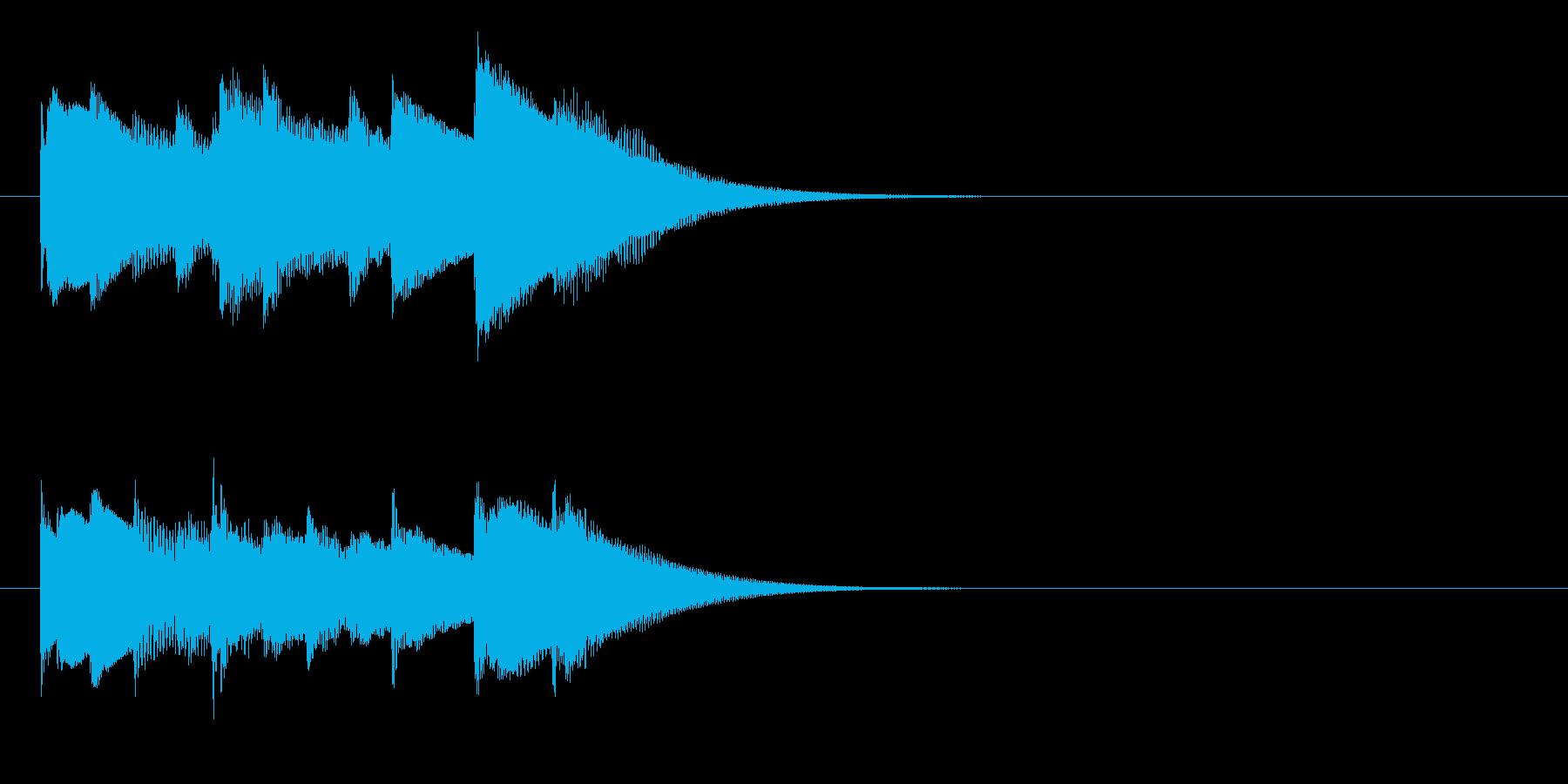 チェレスタの優しいジングルの再生済みの波形