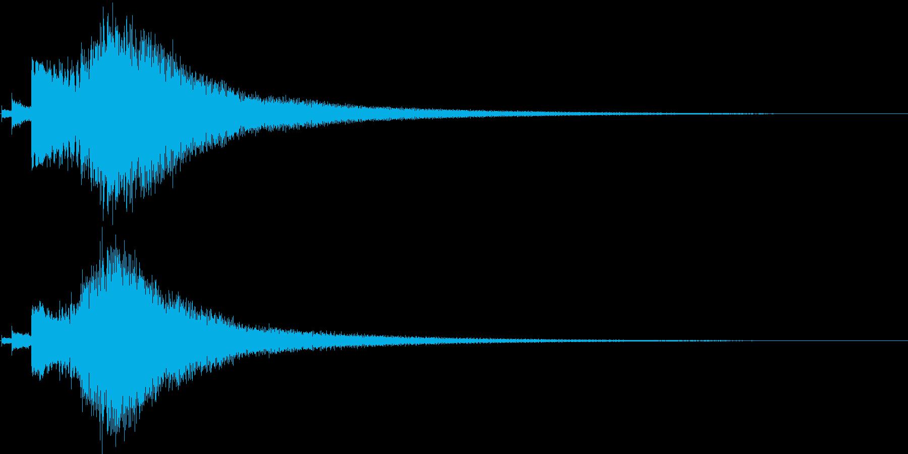 キラキラ-1 場面転換などの再生済みの波形