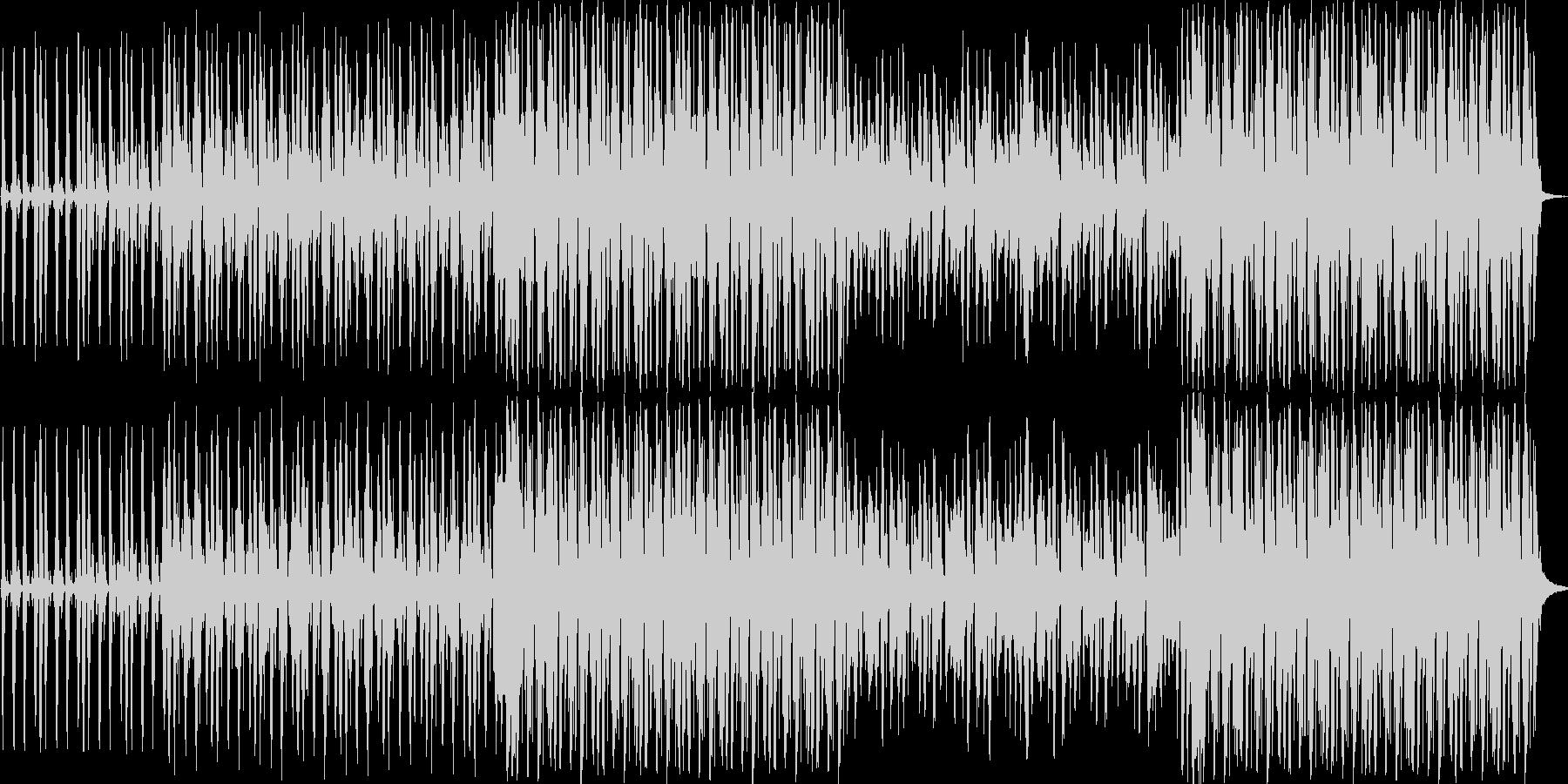 怪しげで賑やかな感じのジャズ風BGMの未再生の波形
