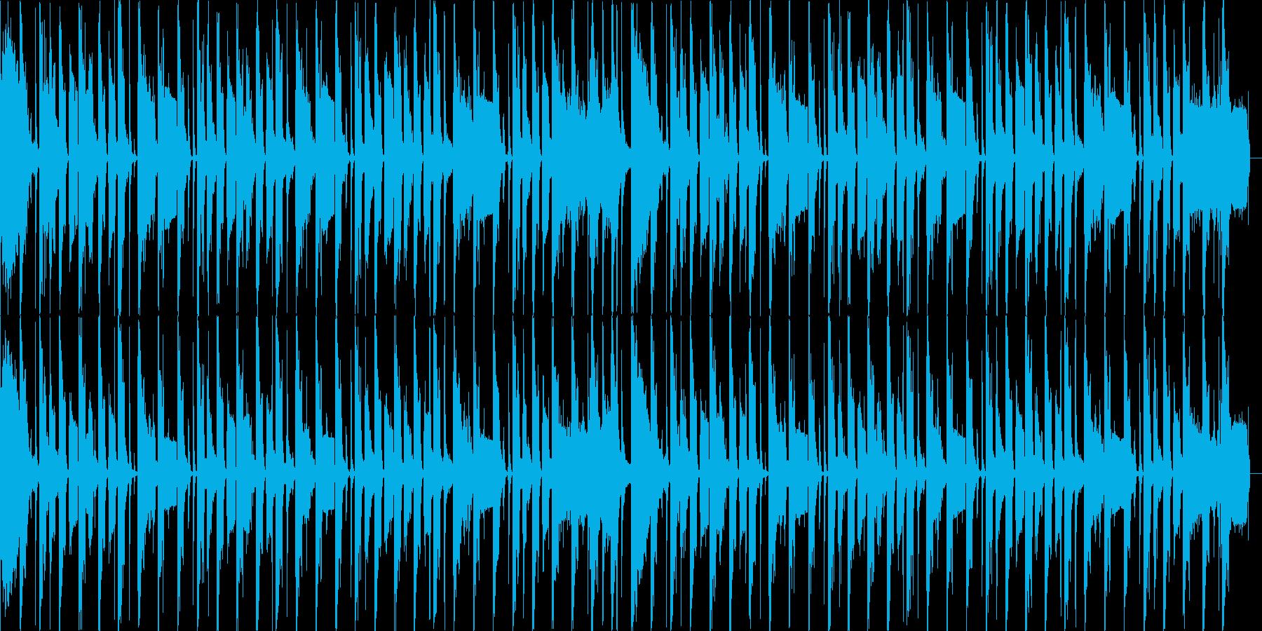 ファミコンサウンドで軽快+きざむドラムの再生済みの波形