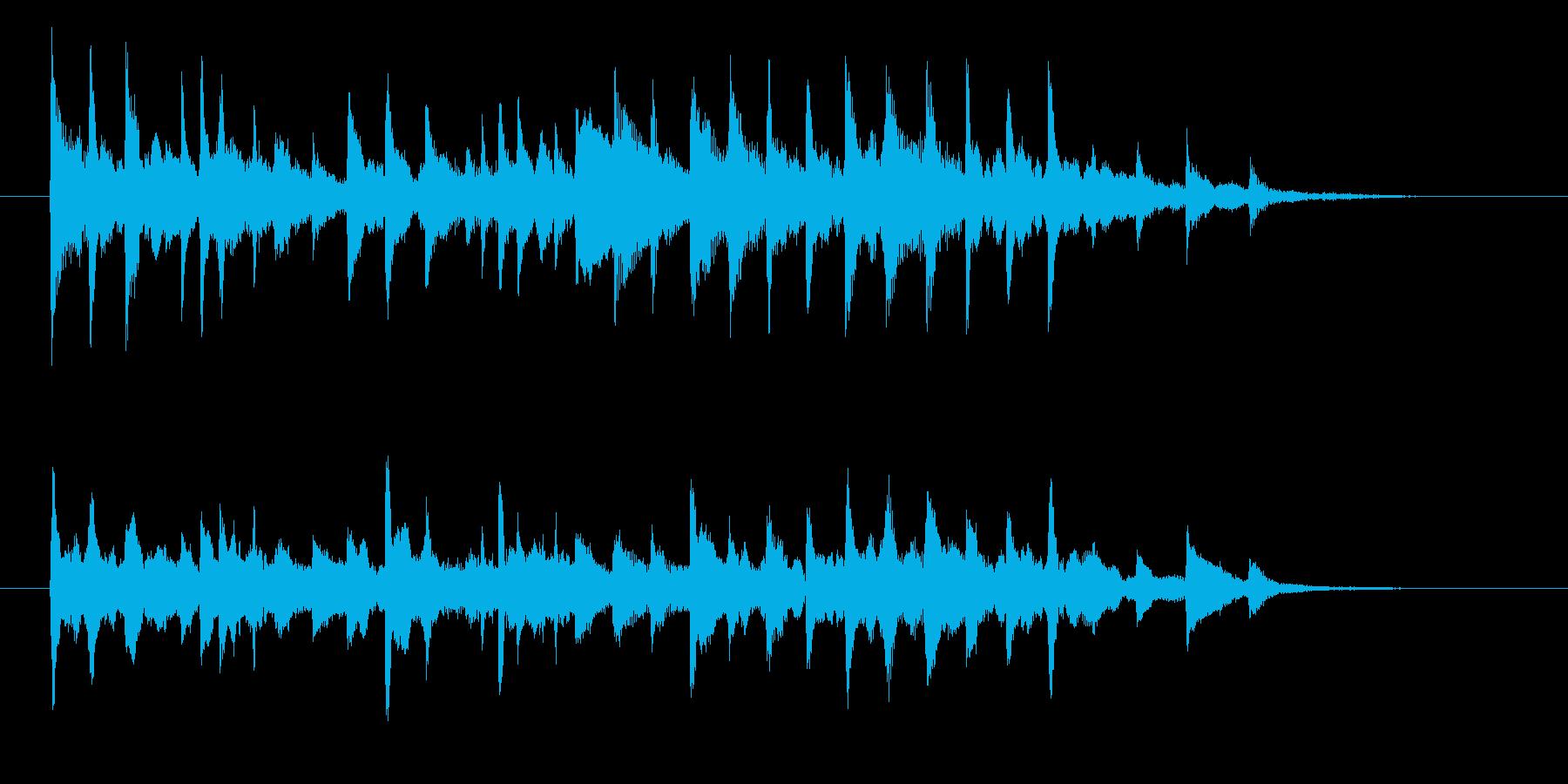 優しく繊細なクラシックの再生済みの波形