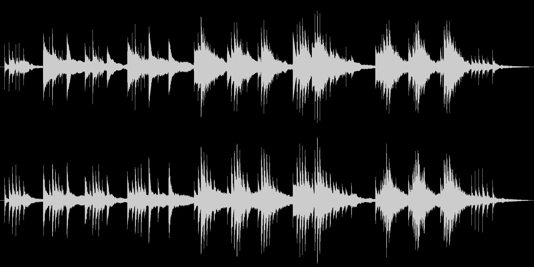 生ピアノ録音-星が降ってくる神秘的なソロの未再生の波形