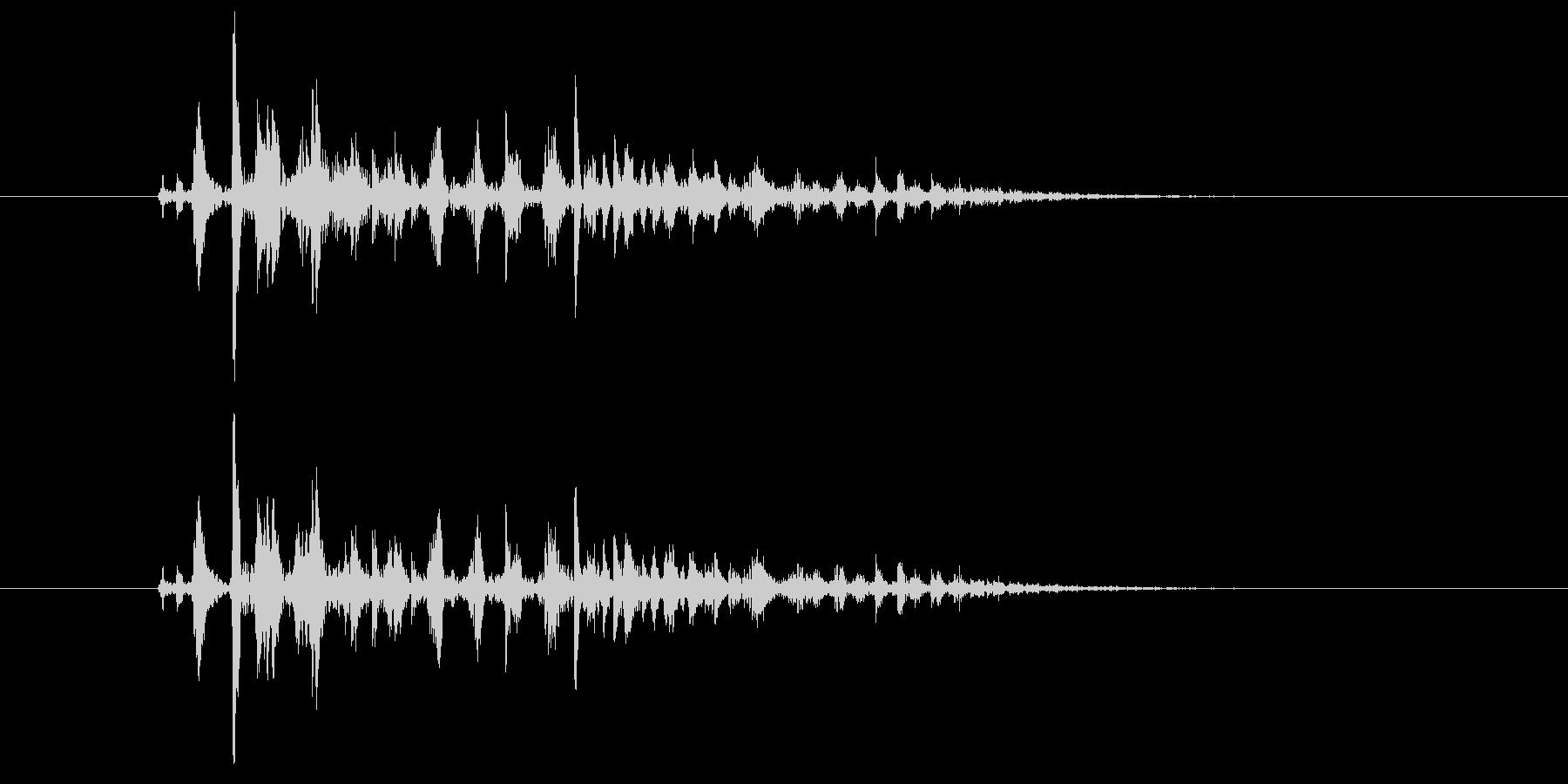 ブクブク(泡のような音) B01の未再生の波形