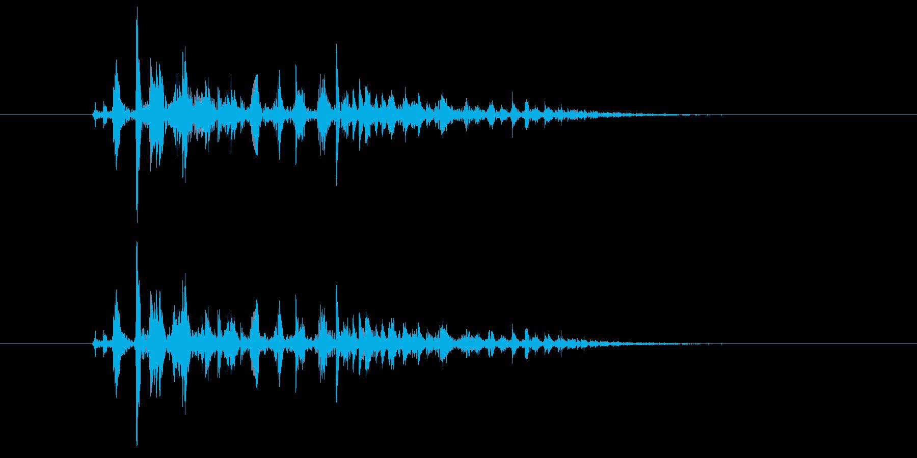 ブクブク(泡のような音) 02の再生済みの波形