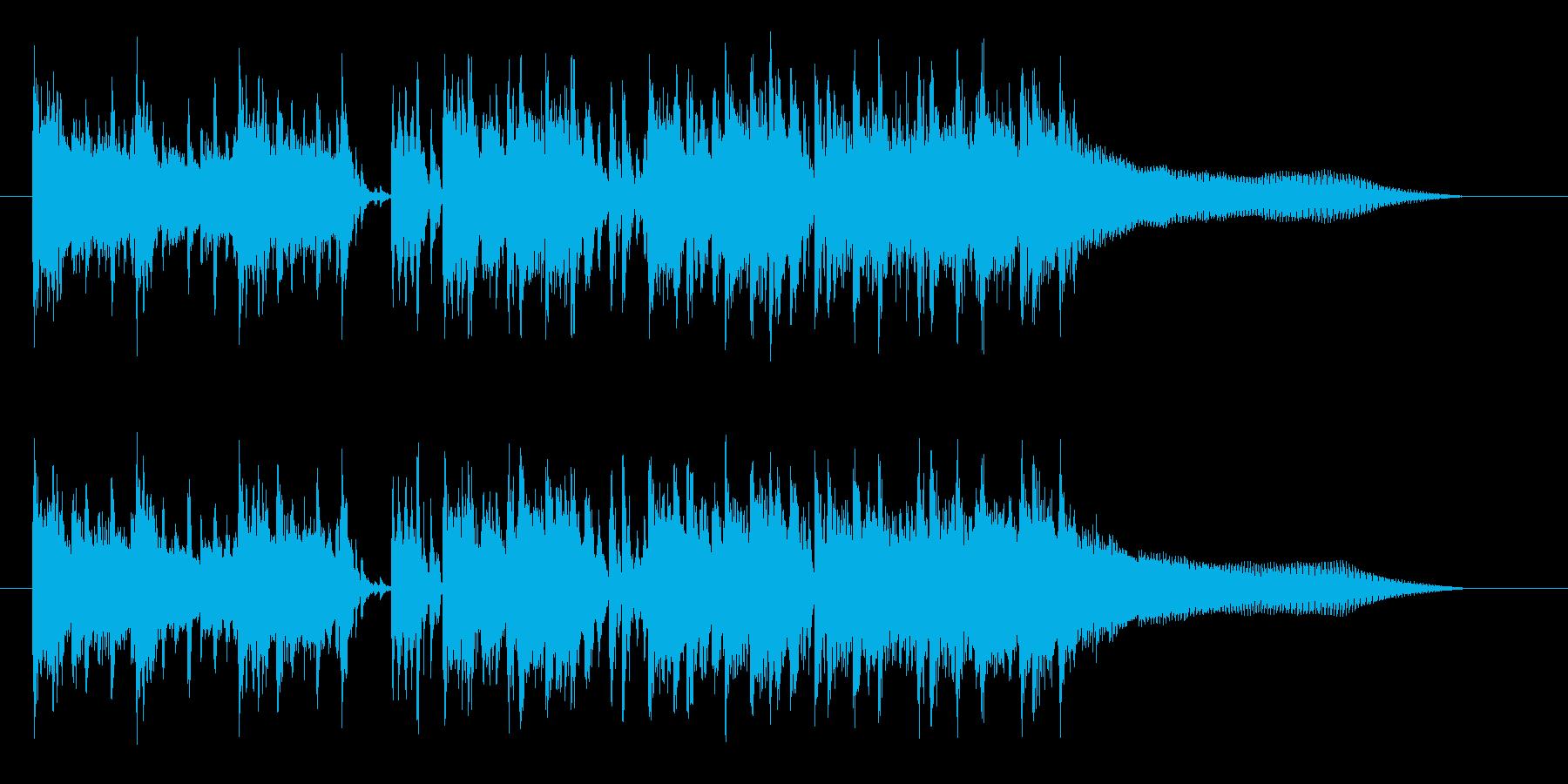 シリアスでドキドキ感ギターシンセサウンドの再生済みの波形