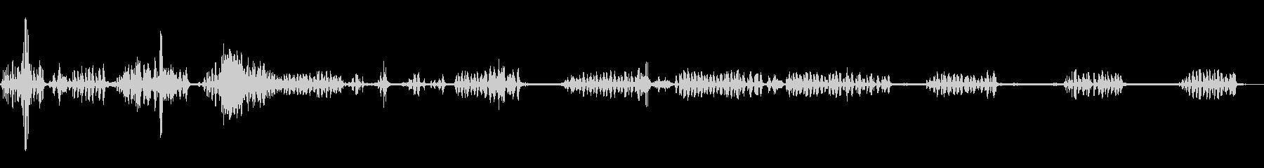 春の山(環境音)/鳥の鳴き声の未再生の波形