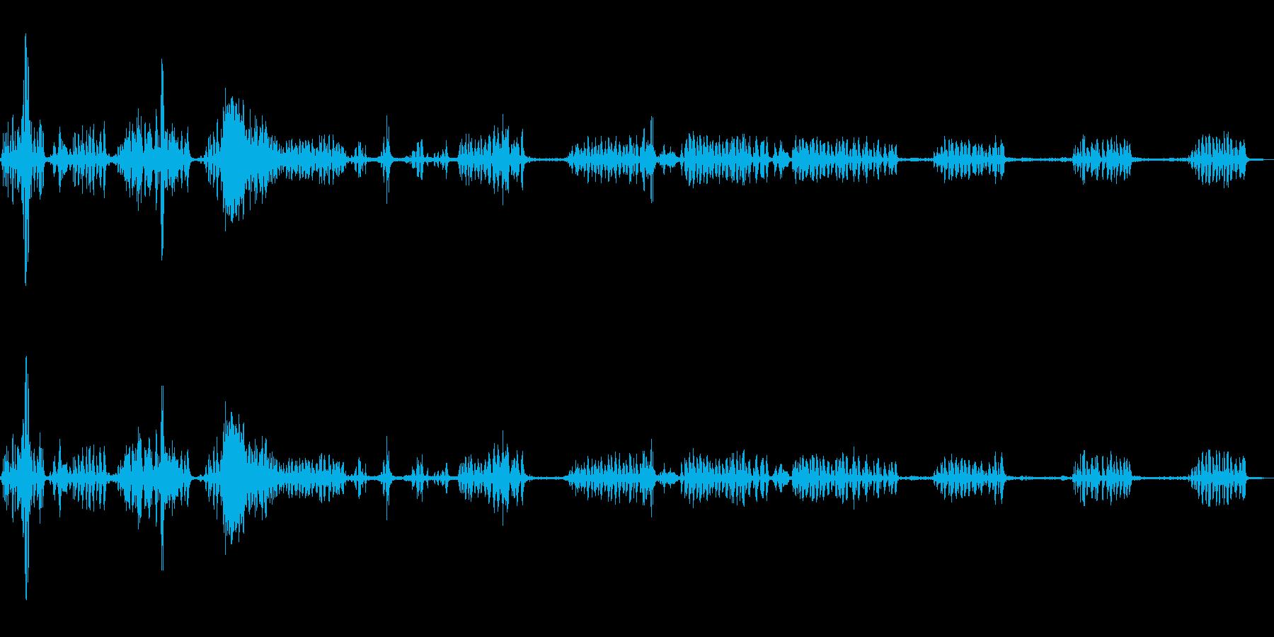 春の山(環境音)/鳥の鳴き声の再生済みの波形