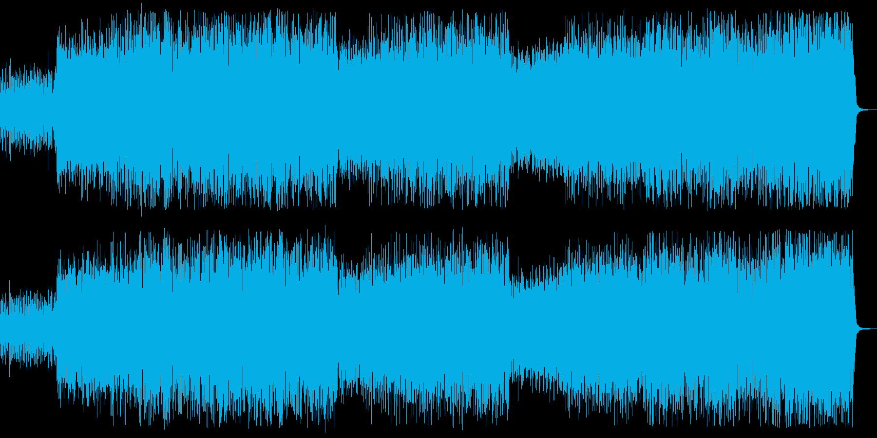 ノリの良いラテンミュージックの再生済みの波形