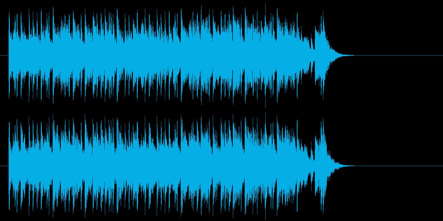 新生活へと出発するポップ(サビ)の再生済みの波形