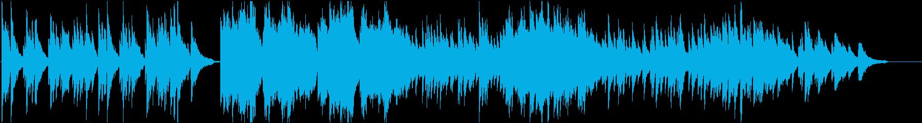 ピアノとストリングスで奏でる切ない楽曲の再生済みの波形