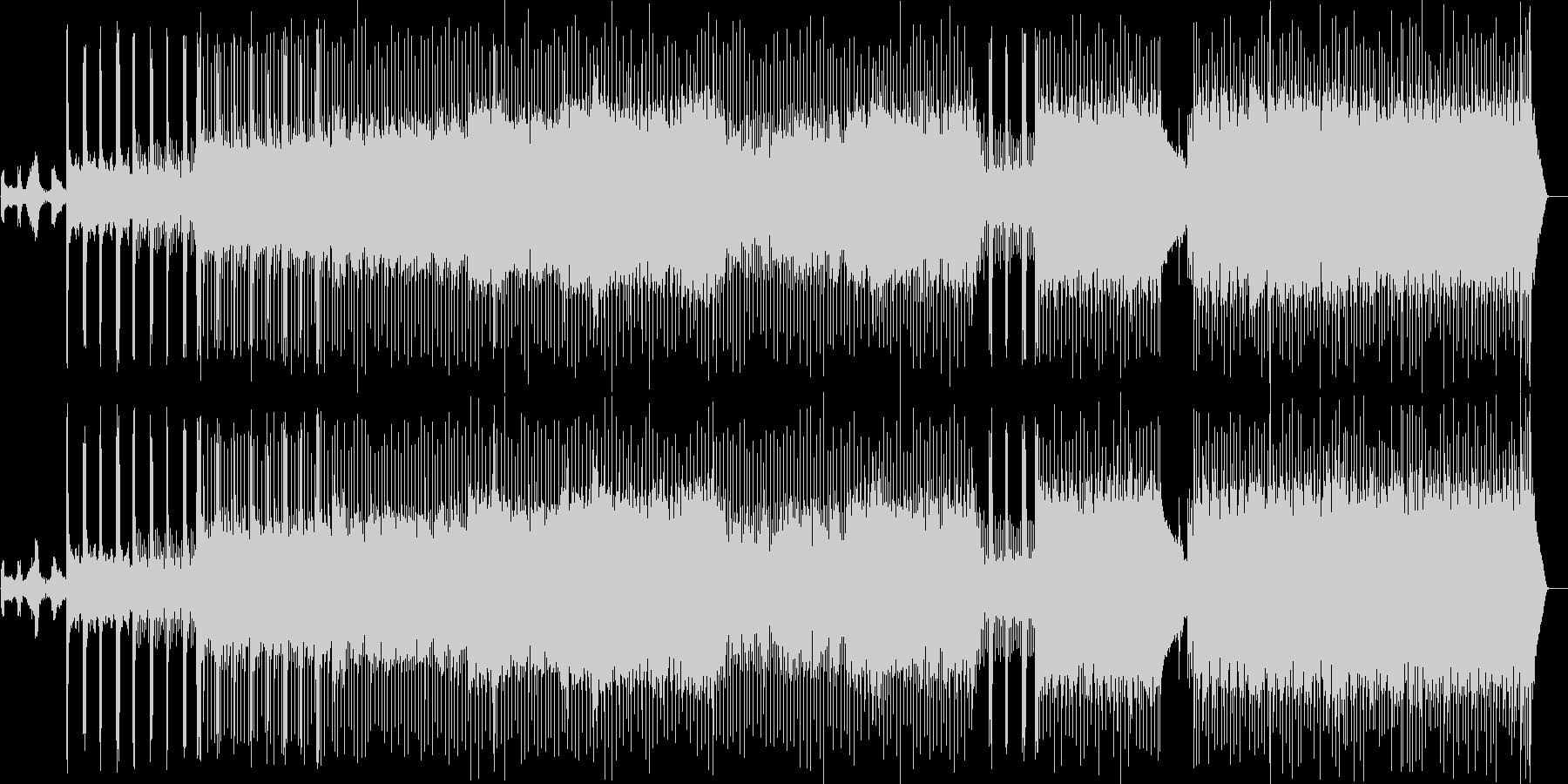 緊張感が持続したプログレッシヴなロックの未再生の波形