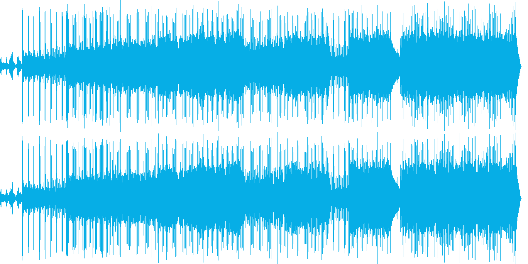 緊張感が持続したプログレッシヴなロックの再生済みの波形