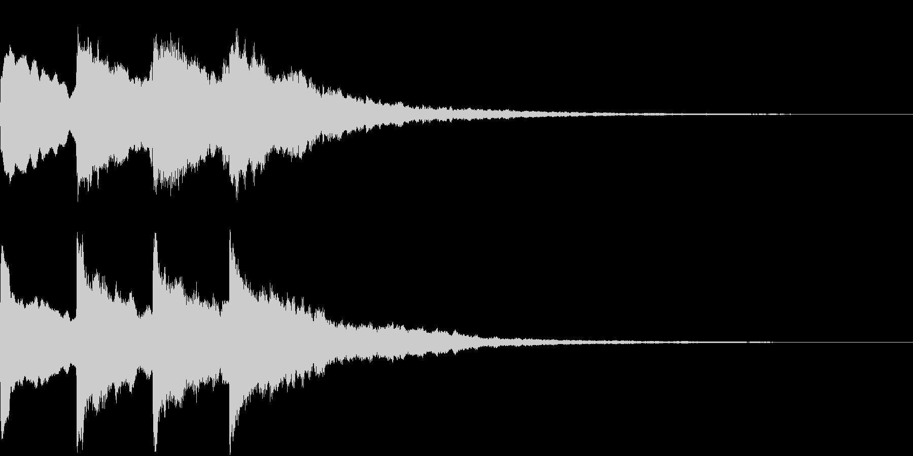 シンプル アナウンス 案内 放送 17の未再生の波形