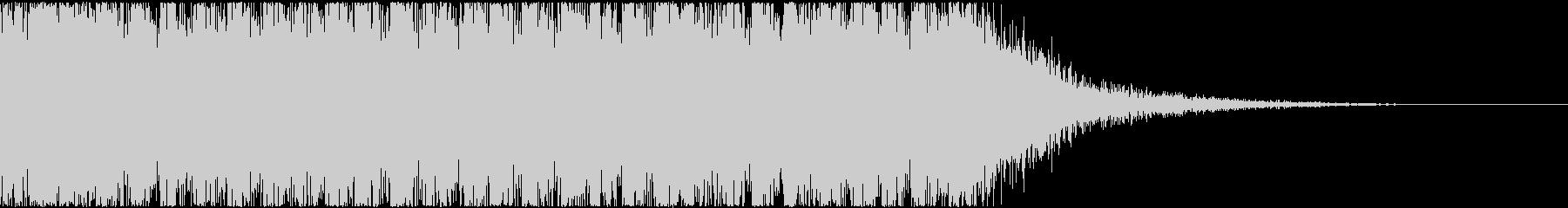 重めの発砲音(連写)の未再生の波形