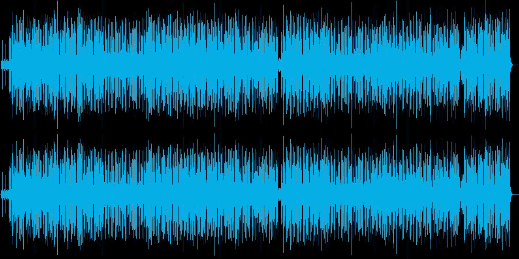 ファンキーなグルーブのヒップ・ポップの再生済みの波形