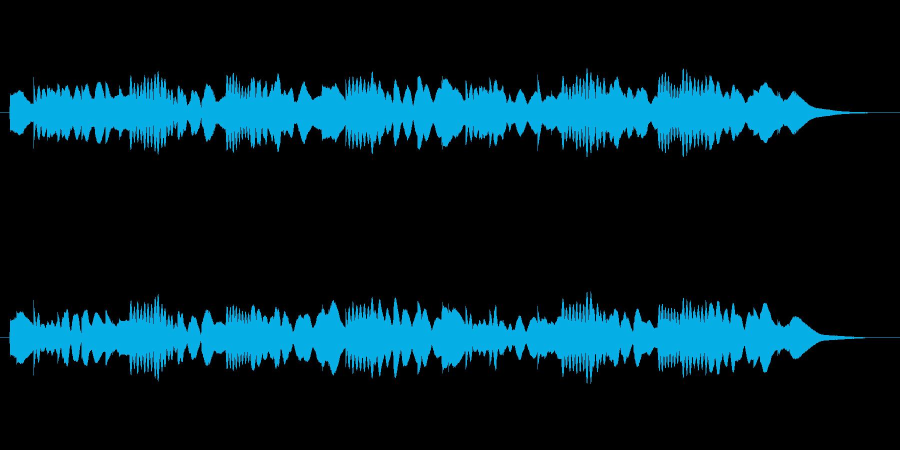 透明感のあるシンセ音(不思議、神秘的)の再生済みの波形
