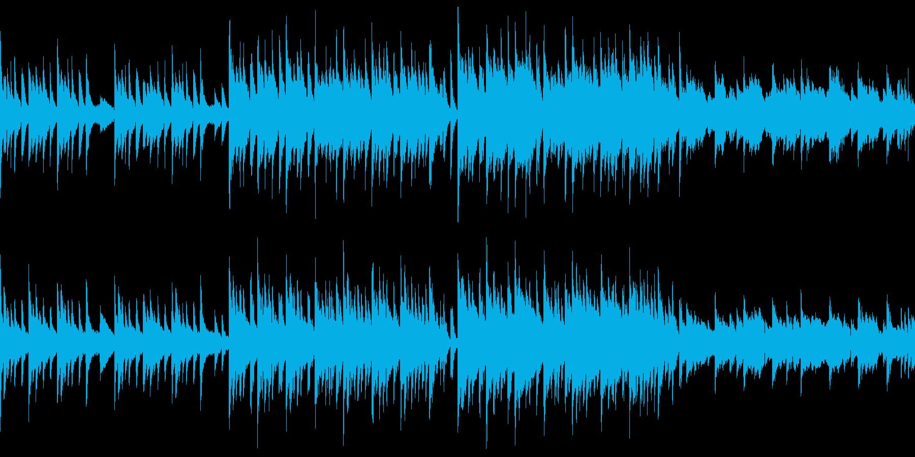 懐かしさや日没を想起させるBGM/ループの再生済みの波形