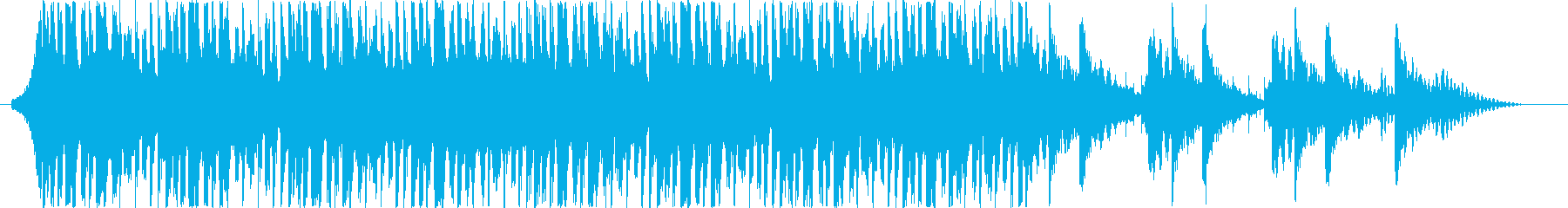 テクノポップ風ジングル・サウンドロゴの再生済みの波形