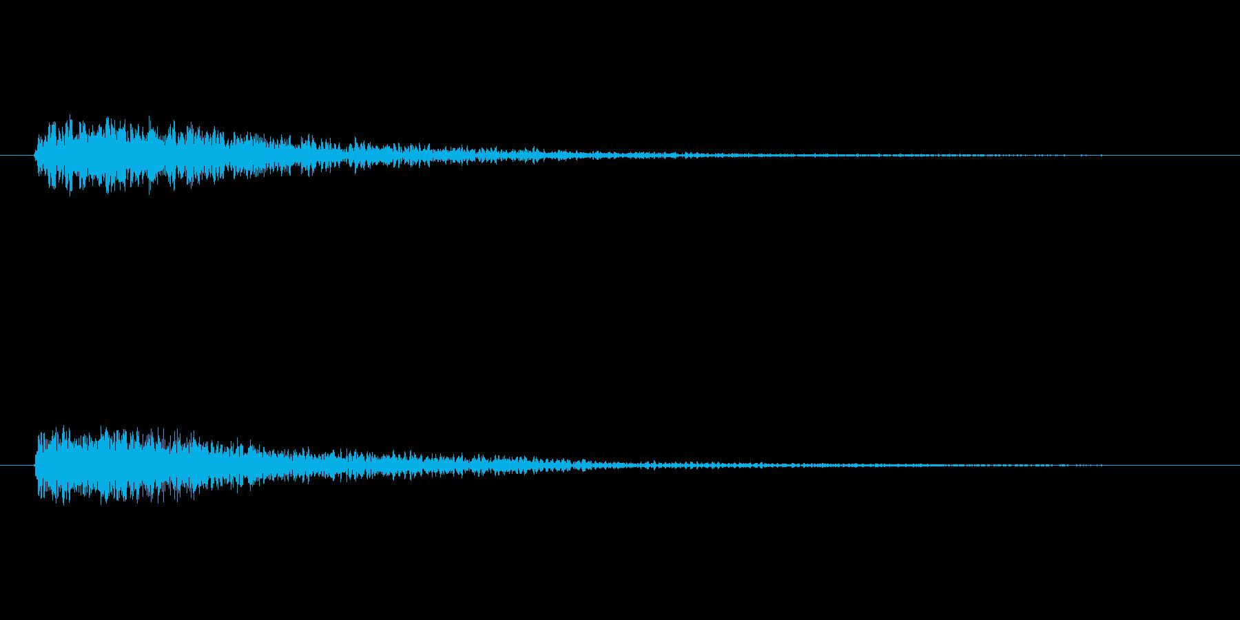 ドーン!(重大発表とかで聴く音)の再生済みの波形