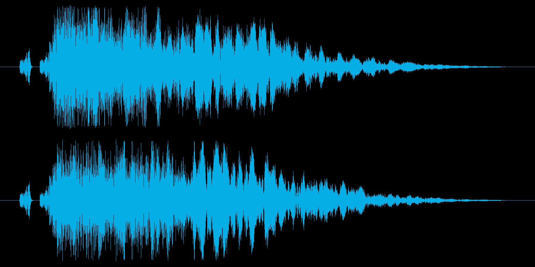 タッチ/決定/クリック/ボタン/戻る25の再生済みの波形