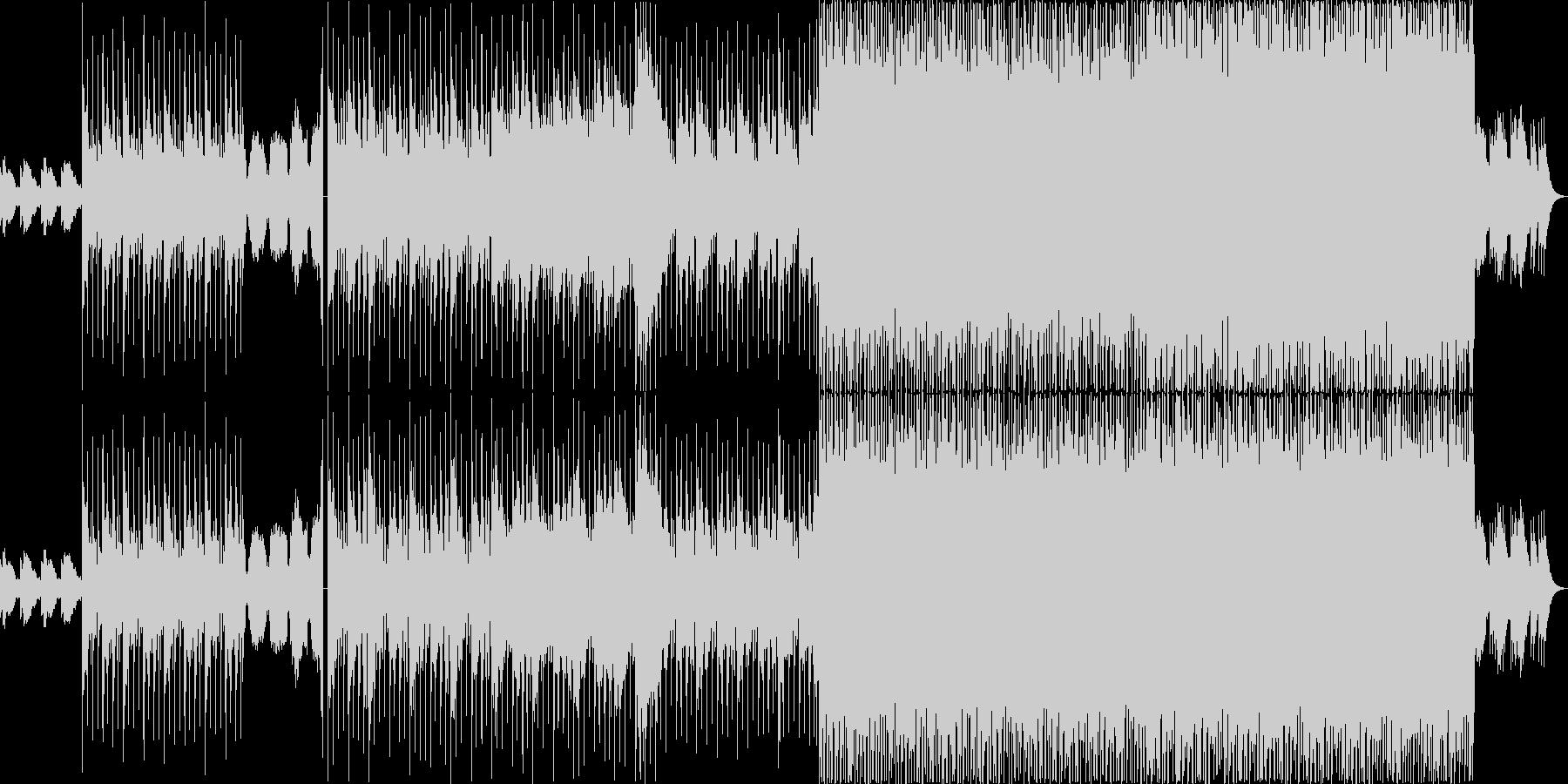 心の移り変わりを表した幻想的な曲の未再生の波形