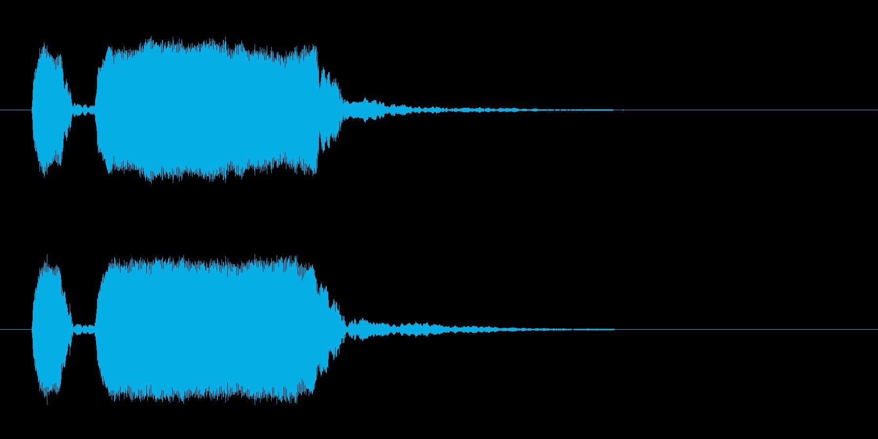 「ピピ〜ッ!」警笛による鳥の鳴き声の擬音の再生済みの波形
