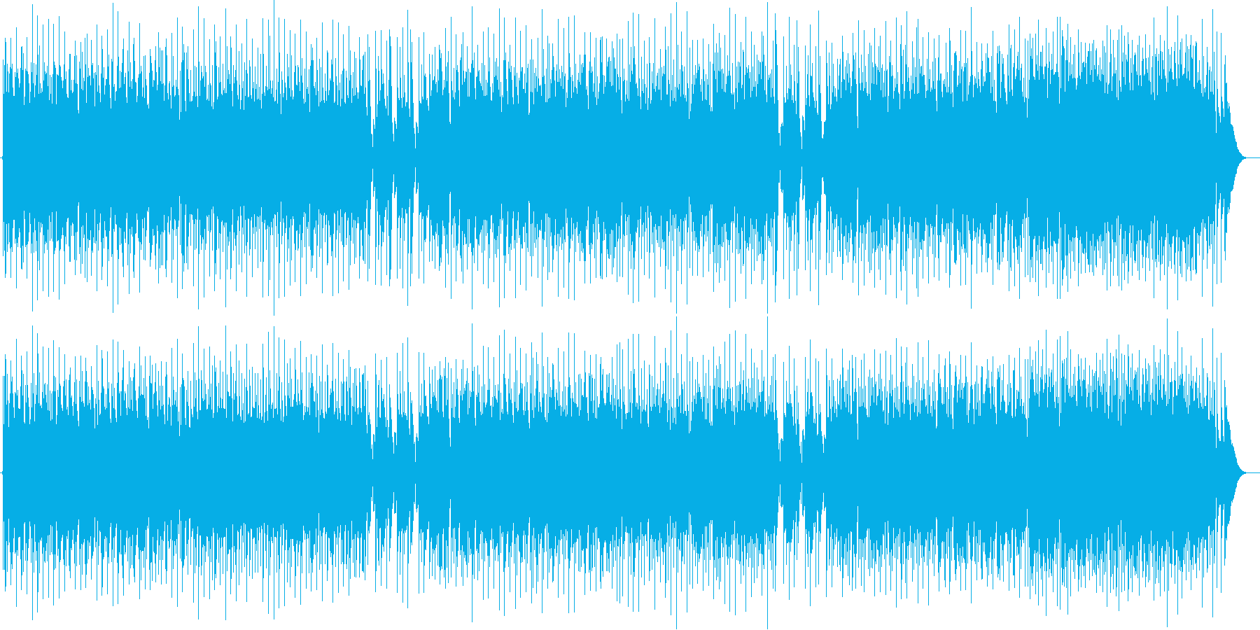 陽気で爽やかなミュージックの再生済みの波形