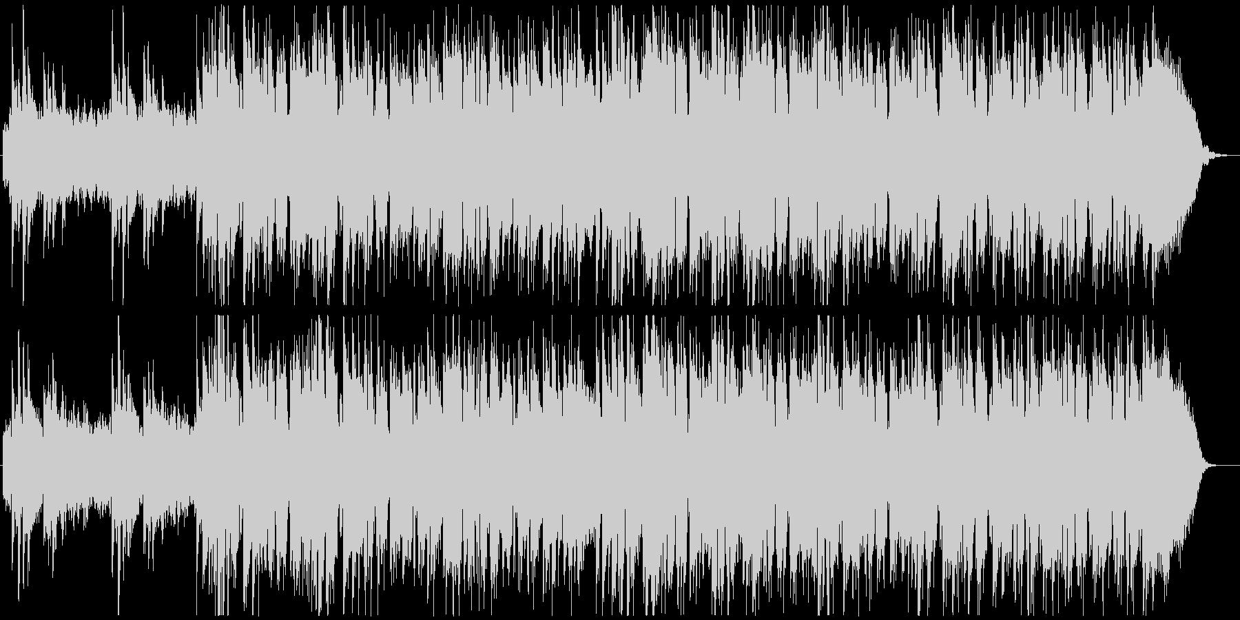 爽やかで広がりのあるピアノ曲の未再生の波形