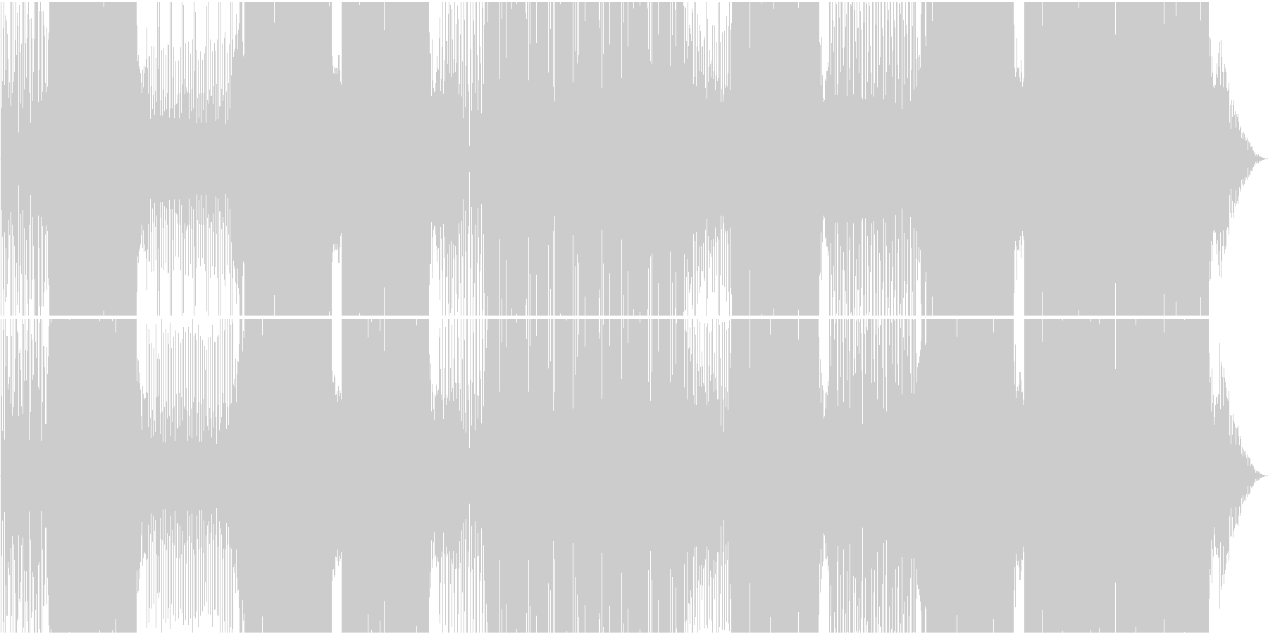 映像用ゆったりMoombahtonEDMの未再生の波形