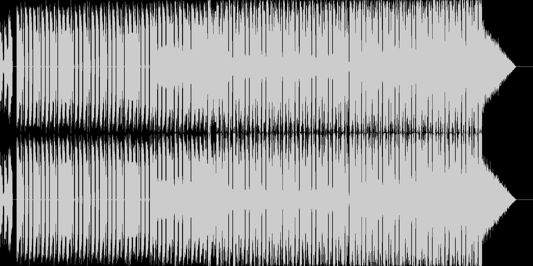 エレクトロで疾走感のあるBGMの未再生の波形