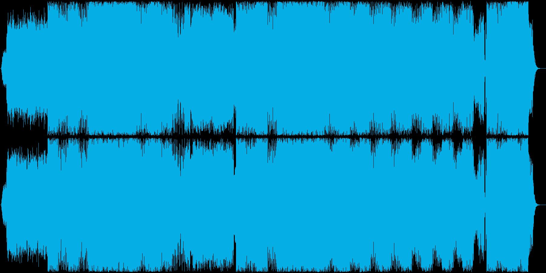 近未来的なデジタルスピードサウンドの再生済みの波形