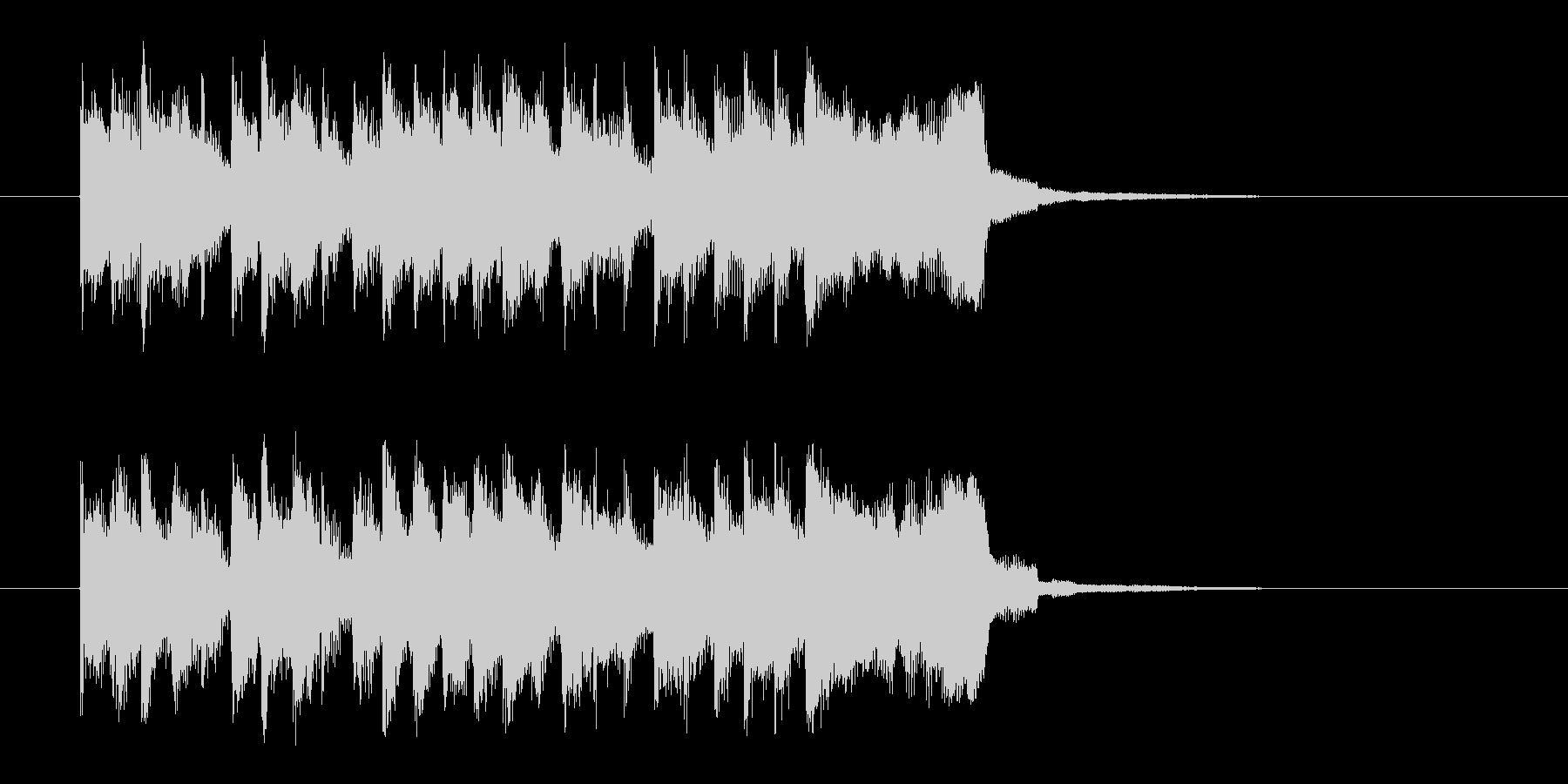 勢いと楽しげなドラムシンセサウンド短めの未再生の波形